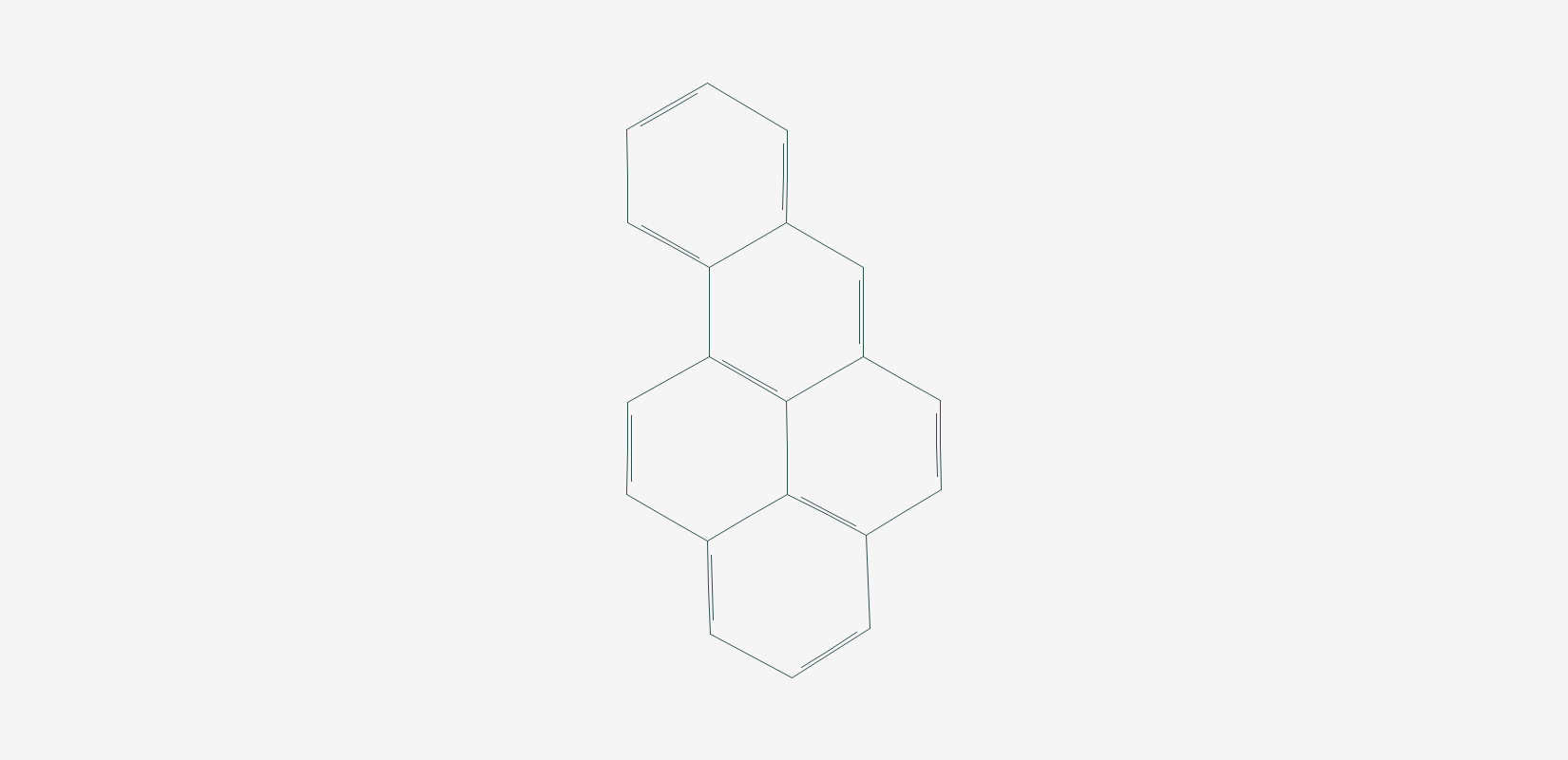 Structure of benzo[a]pyrene