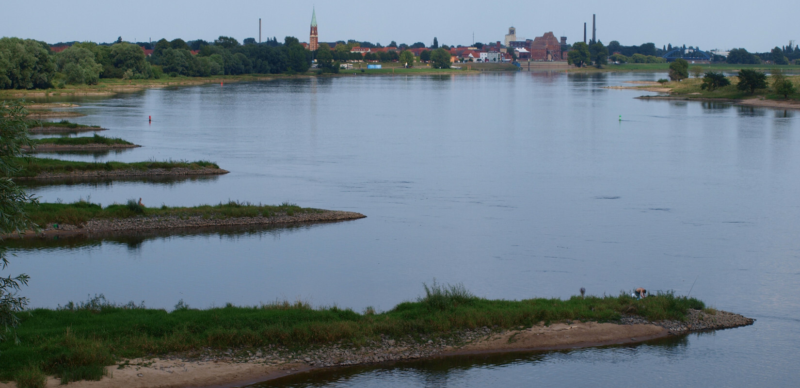 The river Elbe at Cumlosen